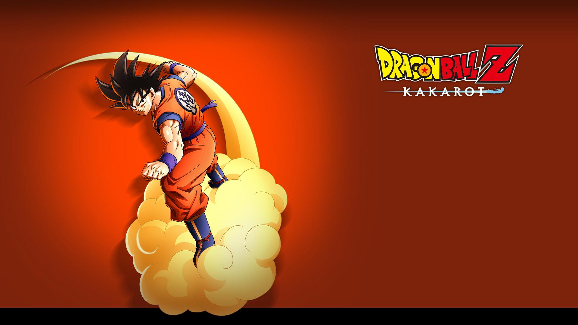 DragonBallZKakarot, Goku volant sur un nuage et prêt à se battre.