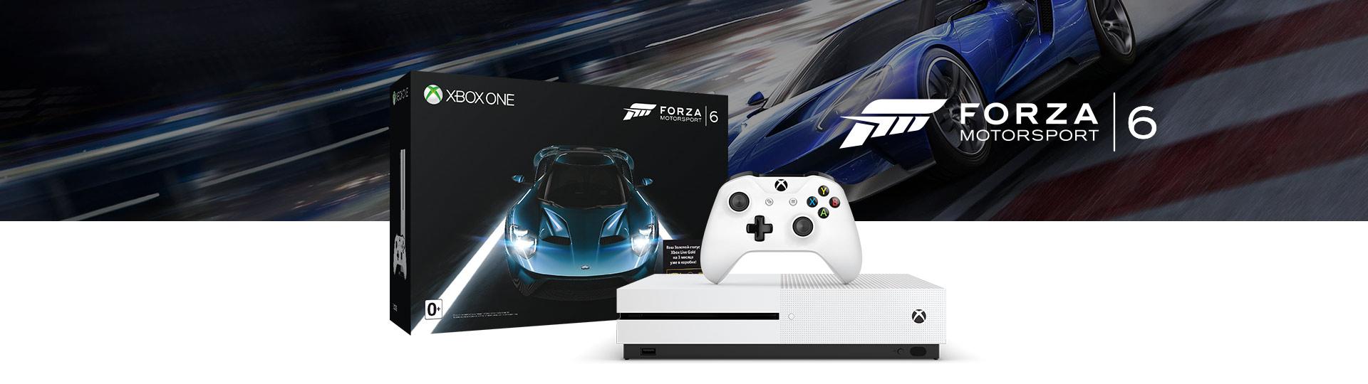 Комплект: 500 ГБ консоль с Forza Motorsport 6