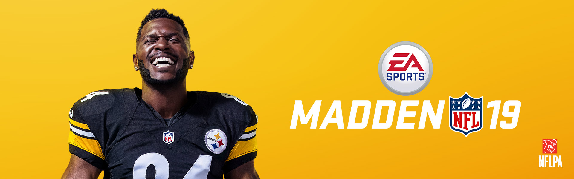 EA Sports Madden NFL 19, An elated Antonio Brown smiles