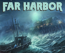 Ship in a storm in far harbor