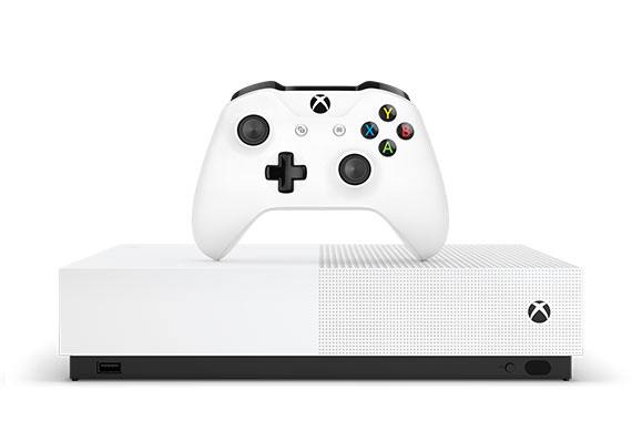 Front view of Xbox One S Digital Edition