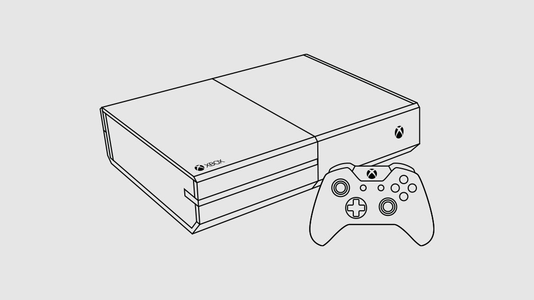 Illustration of the Xbox One console