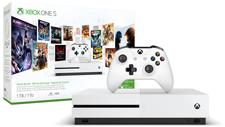 Product box of Xbox One S Starter Bundle 1 terabyte