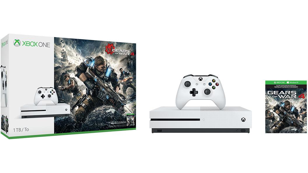 Zestaw Xbox One S Gears of War 4 z dyskiem 1TB