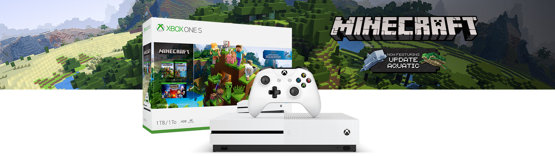 Xbox One S Aquatic Bundle 1TB