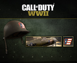 Call of Duty: WWII (endowment helmet, calling card and emblem)