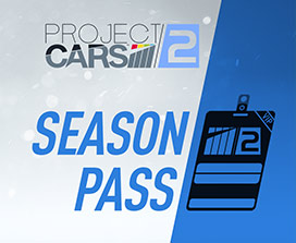 Project CARS 2 Season Pass, Outline of VIP pass over blue background