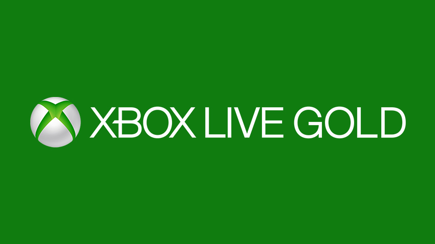 The Xbox Live Gold logo on a green Xbox background