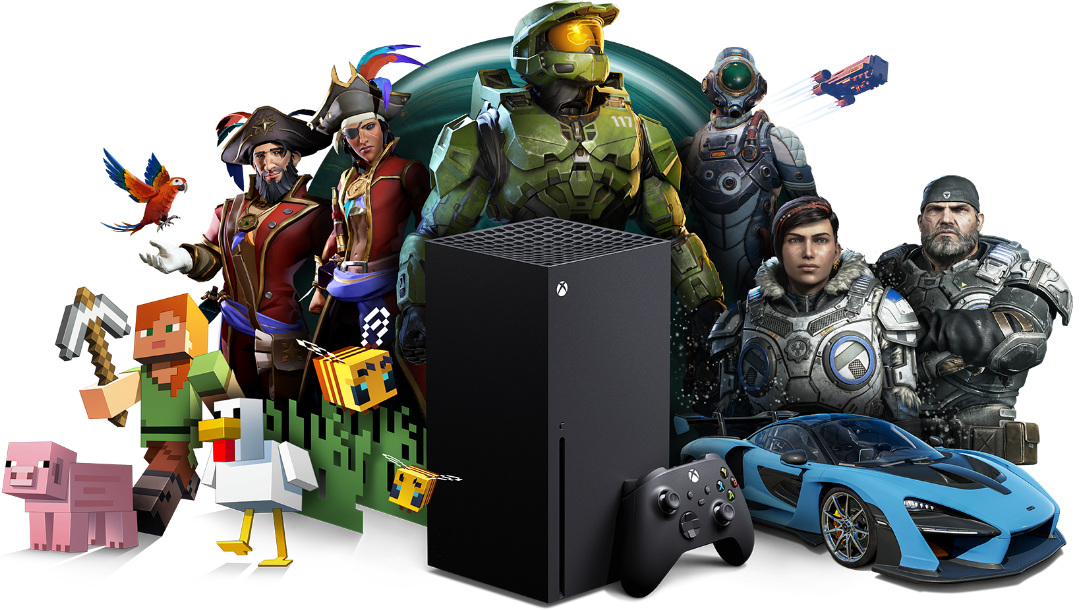 Xbox All Access, Xbox Series X with Xbox game characters