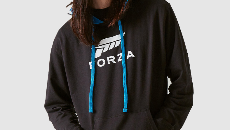 Sweat à capuche avec grand logo Forza