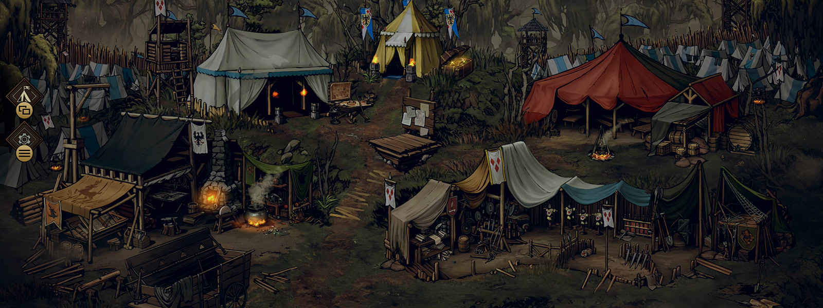 View of in game customisable war camp