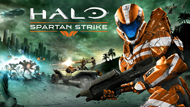 Halo: Spartan Strike, Spartans on warthog shooting Prometheans