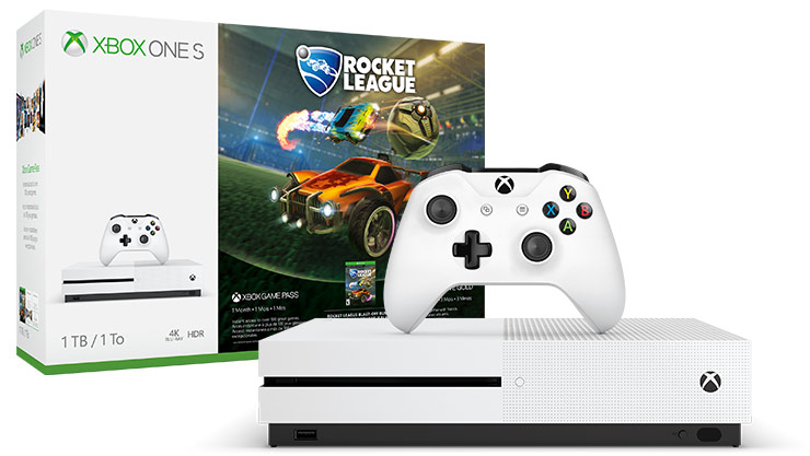 Xbox One S Rocket League Blast-Off Bundle (1TB)