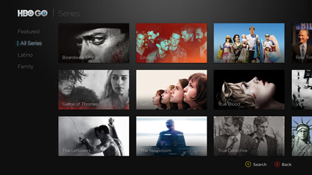 HBO GO for Xbox One All Series screenshot
