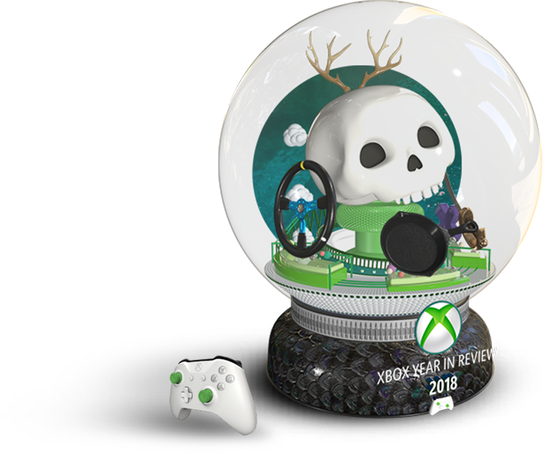 Xbox Year in Review vetro con neve