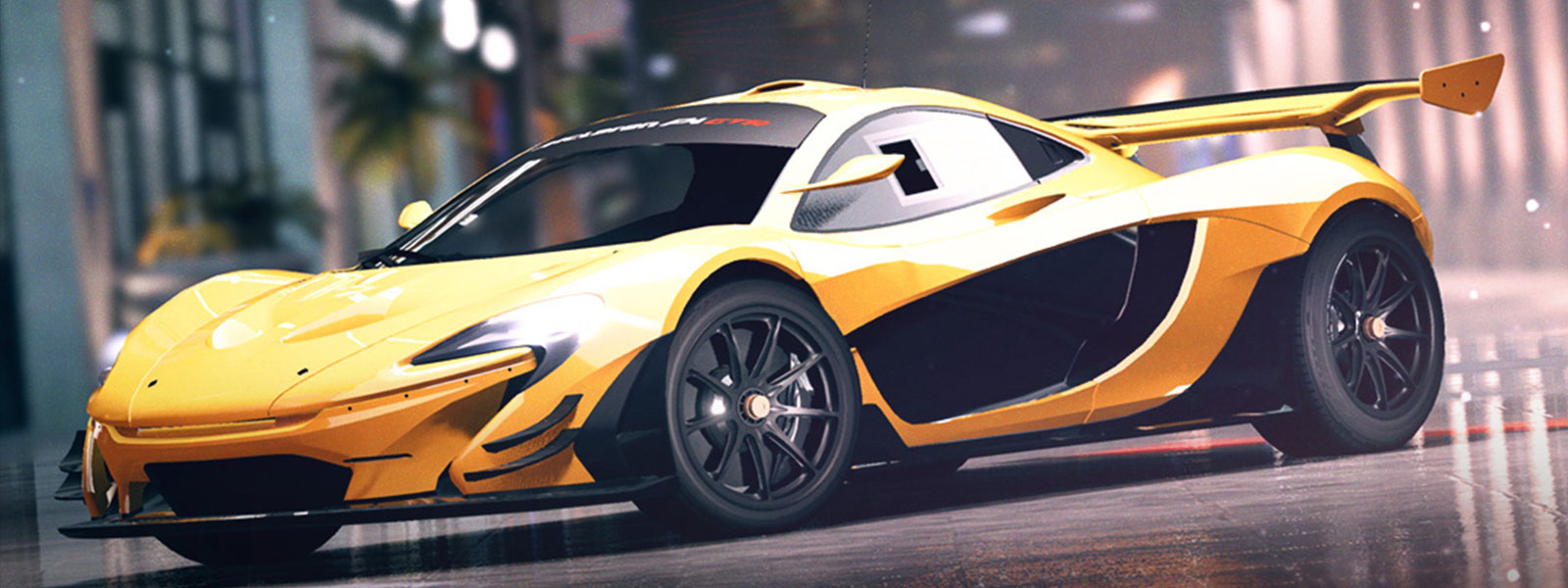 Yellow McLaren from Forza Street