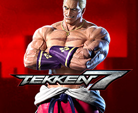 Tekken 7, front view of Geese Howard with his arms crossed