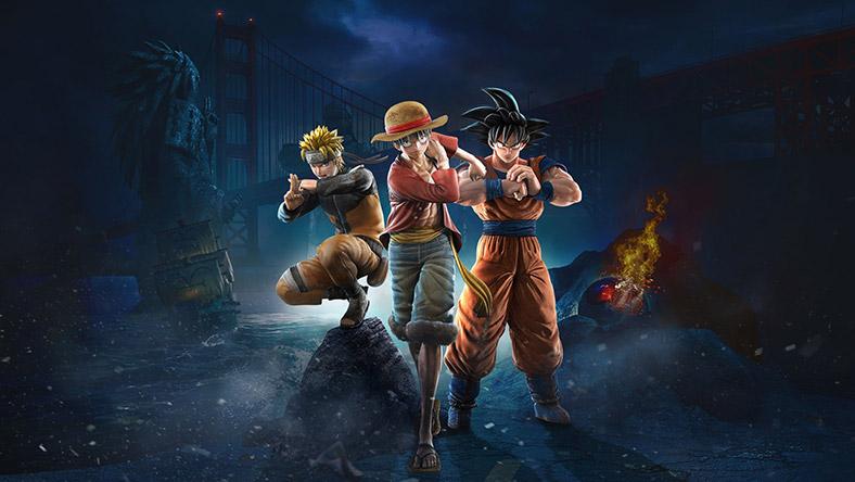 三個 Manga 主角擺出戰鬥姿勢,看向觀眾