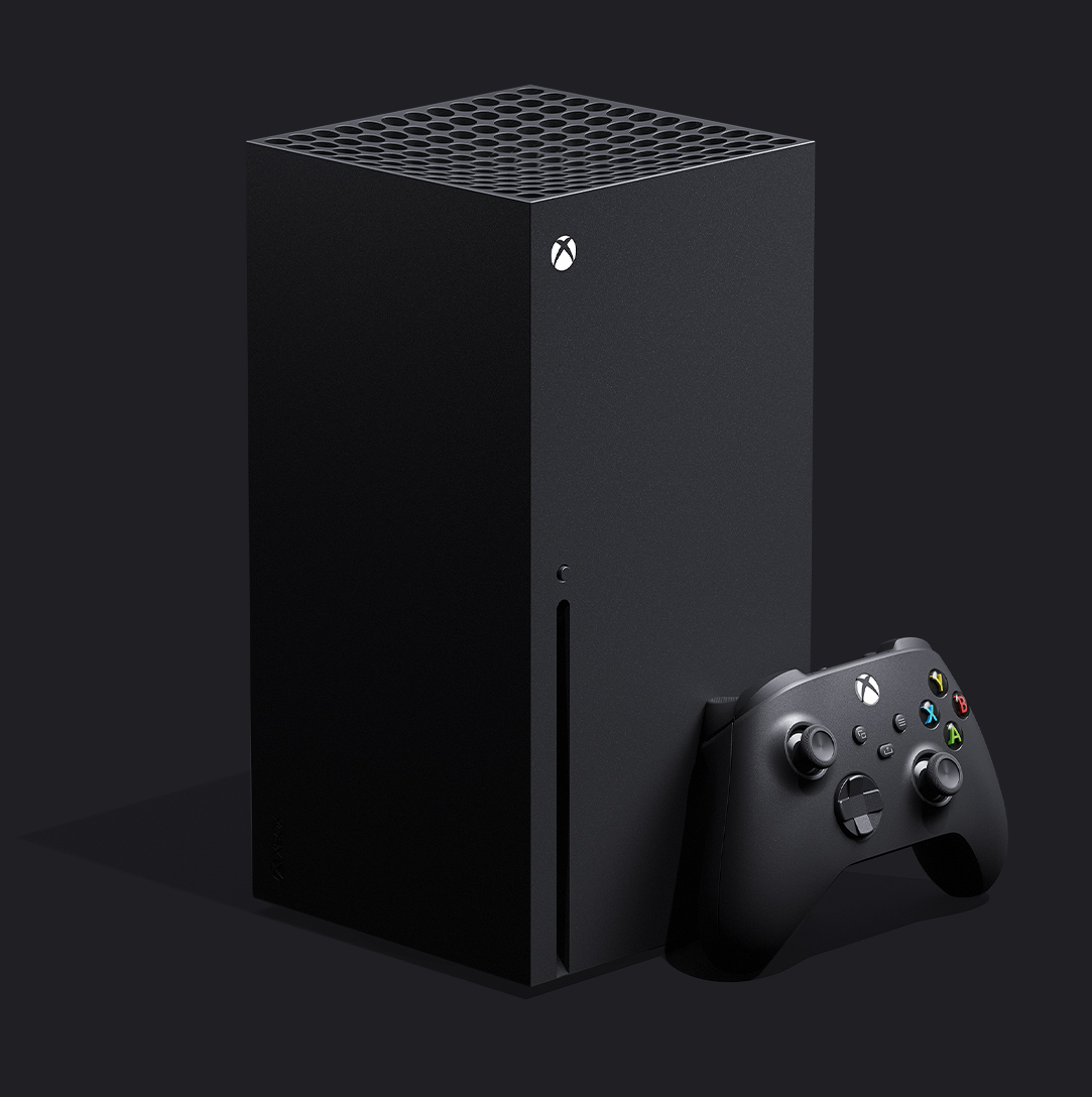 Xbox Series X console with xbox controller