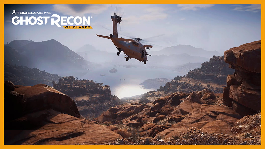 Tom Clancy's Ghost Recon Wildlands, Helicopter flies over mountains in Bolivia