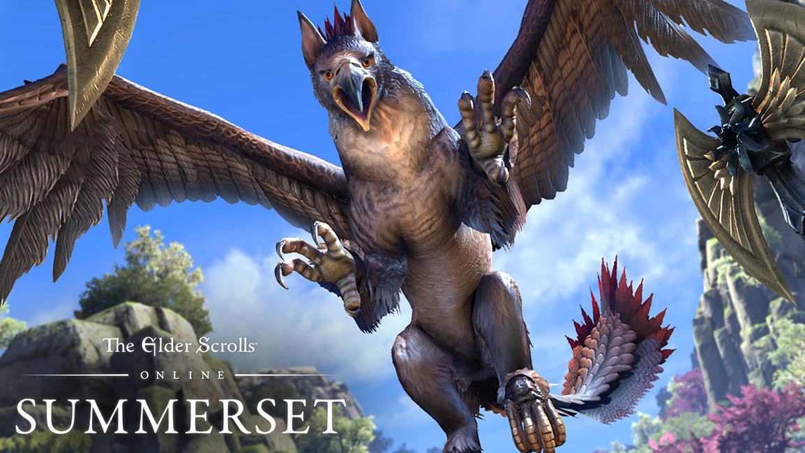 The Elder Scrolls Online Summerset, Front view of large griffin