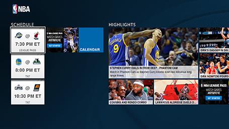 NBA app league schedule screenshot