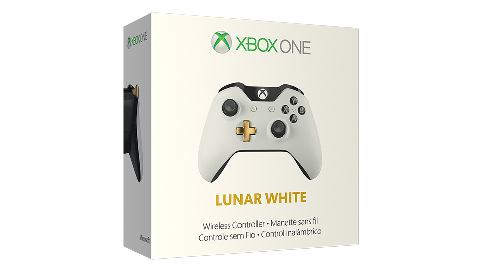 Lunar White Wireless Controller Box shot