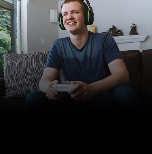 An Xbox Ambassador plays an online game