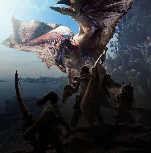 Game-art uit Monster Hunter: World