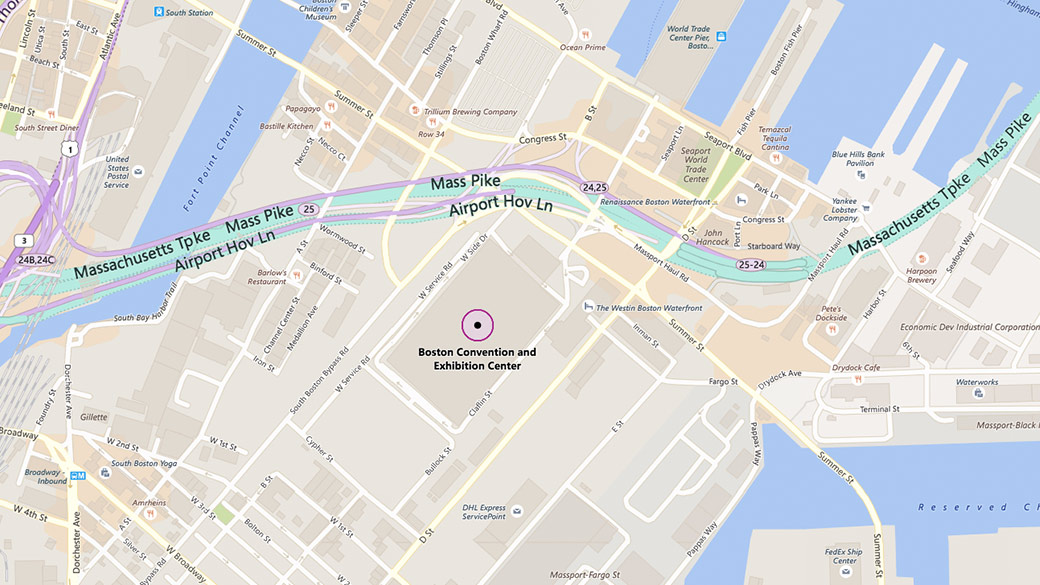 Map of Boston Convention Center