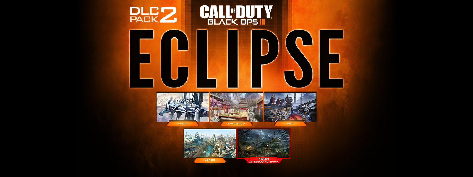 Collage de capturas de pantalla de mapas de Eclipse DLC