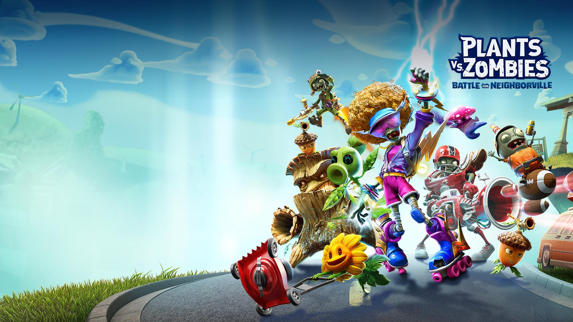Plants vs. Zombies: Battle for Neighborville, sokakta poz veren birçok karakter