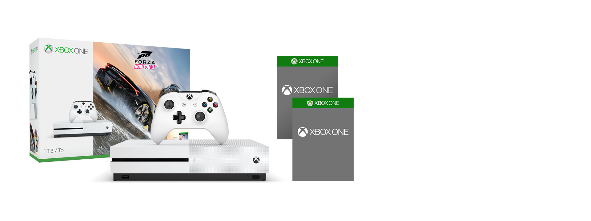 Xbox One S with Forza Horizon 3 and another game - BCGG