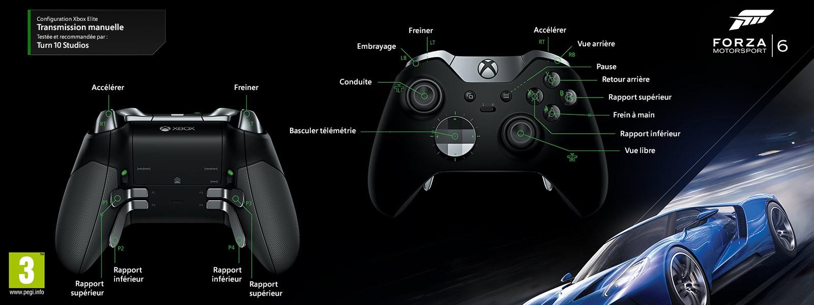 Forza Motorsport6, attribution Elite Transmission manuelle