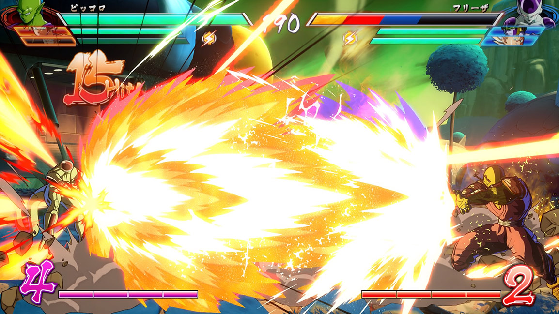 Piccolo blasts Frieza
