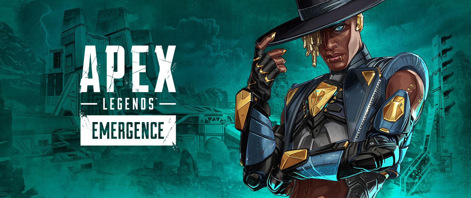 Apex Legends, Surgimiento, la leyenda Seer posa e inclina su sombrero.