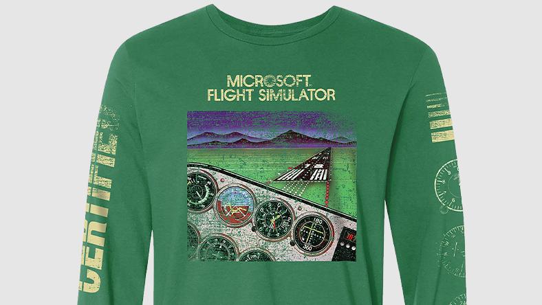 Microsoft Flight Simulator Classic Long Sleeve Tee