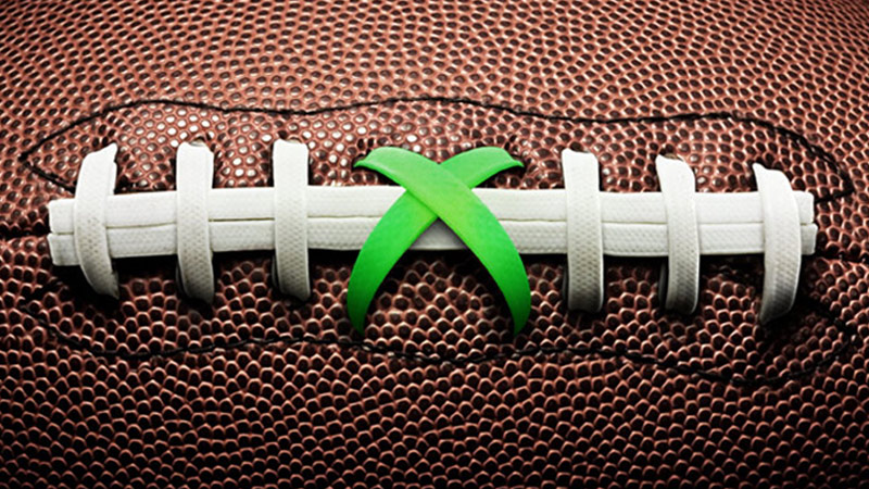 NFL - Football lacing with Xbox logo