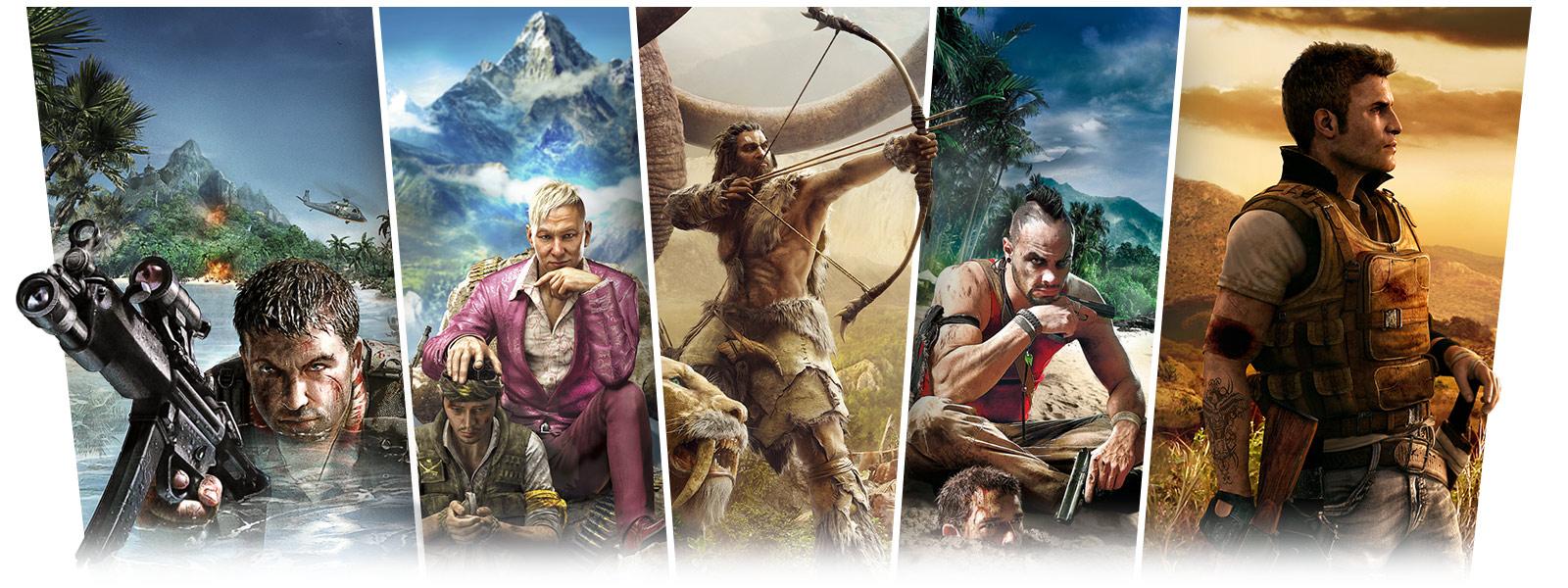 Far Cry screenshots of Far Cry 2, Far Cry 4, Far Cry Primal, FarCry 3, Far Cry Adventures