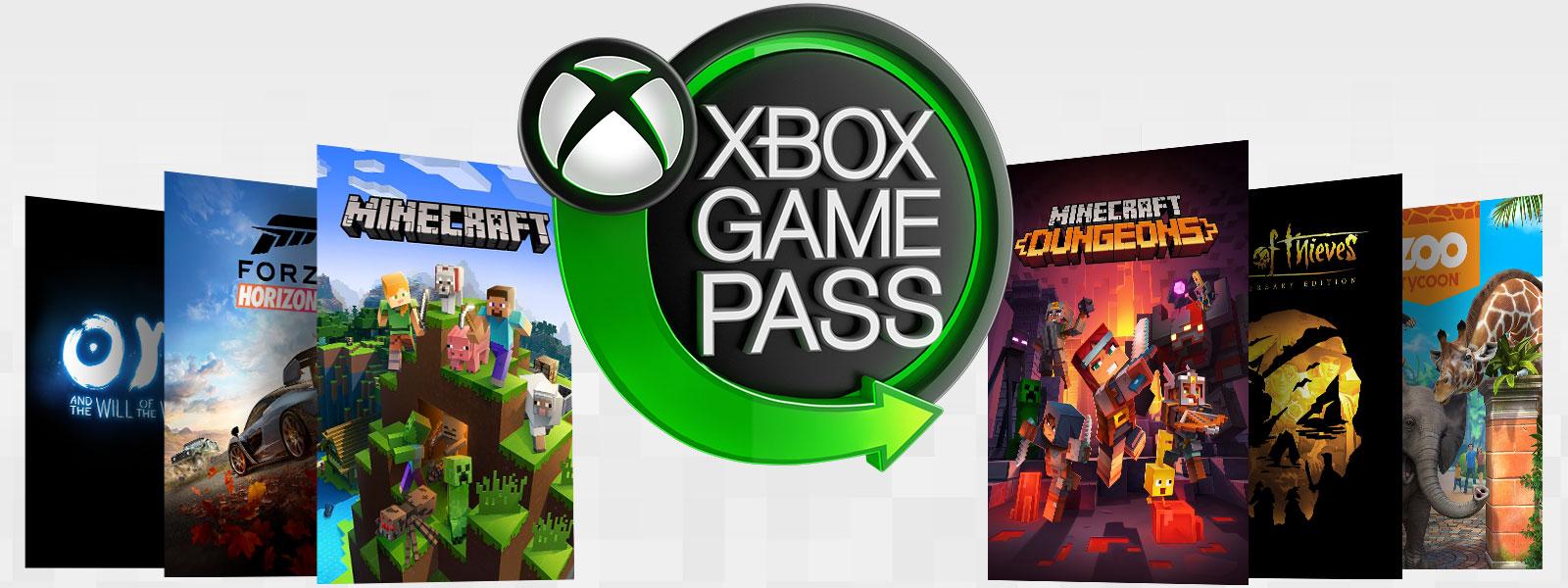 Katılan oyunların kutu resmiyle birlikte Xbox Game Pass logosu