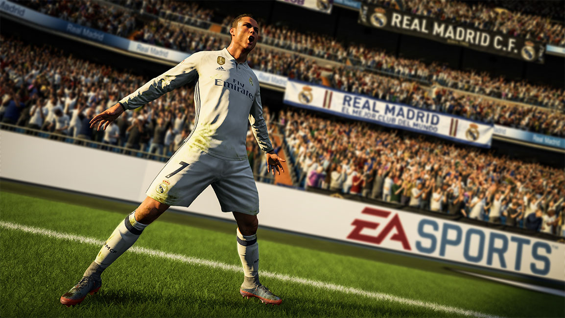 Cristiano Ronaldo heureux de face