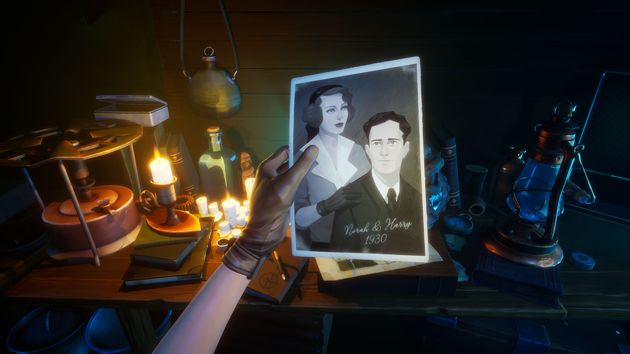A photograph of a couple from Call of the Sea