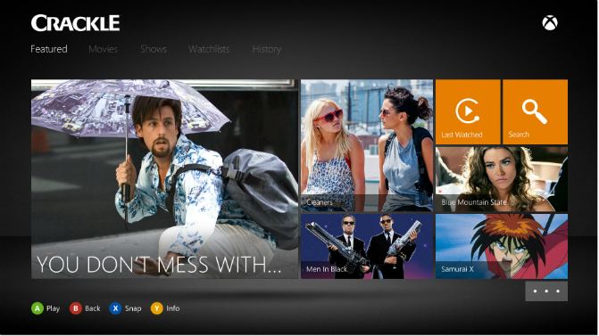 Crackle on Xbox One