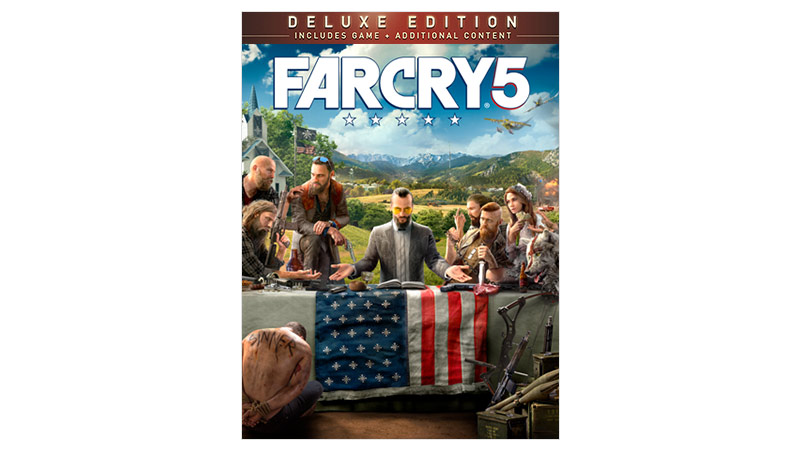 Imagem da caixa do Far Cry 5 Deluxe Edition