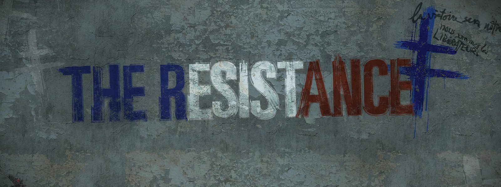 The Resistance written in graffiti on a concrete wall