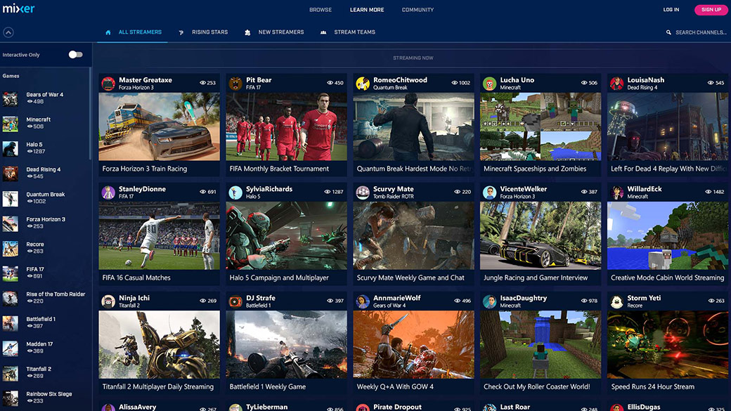 Biblioteca de streaming de Mixer