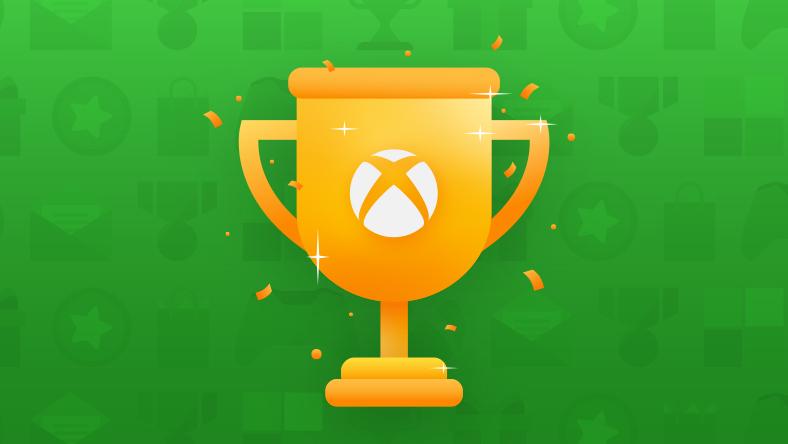 Eine goldene Trophäe mit der Xbox-Kugel