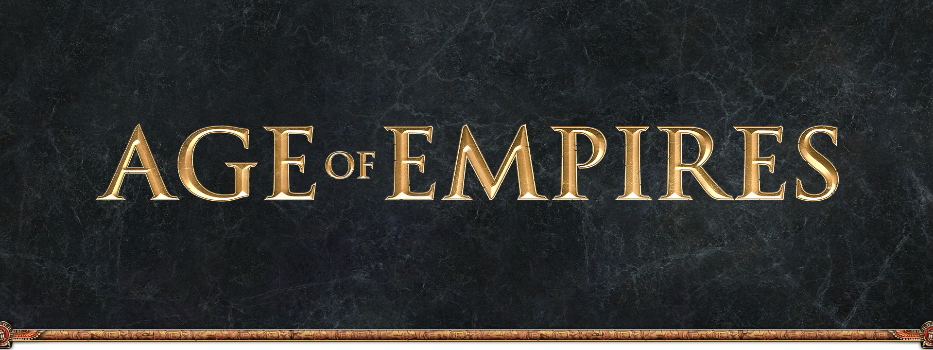 Age of Empires logo on grey slate background