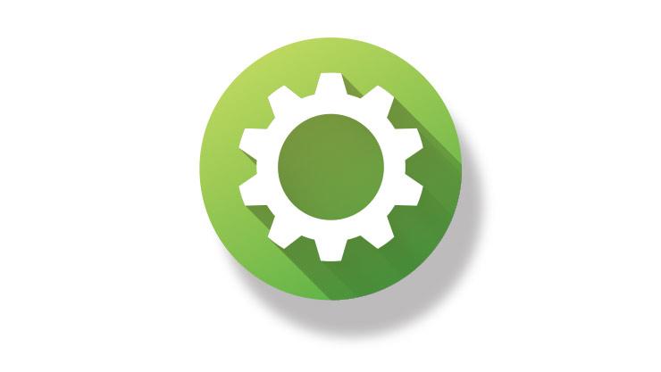 Gear button icon