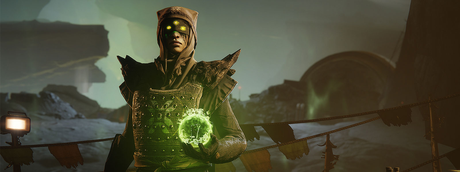 Character Eris holding a green orb
